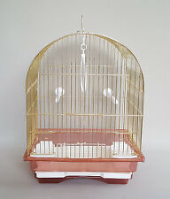Canaries Cage Bird Finches Feeder Seat Waste Box Plastic Swing Hook Small Birds