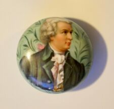 Vintage Antique Hand Painted Paperweight Portrait On Porcelain Signed by Artist