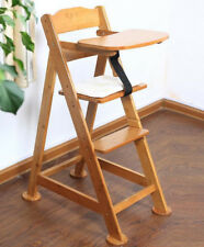 BABY HIGH CHAIR Seat Height Adjustable Bamboo Wooden Chair safe home restaurant