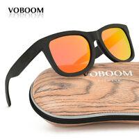 Luxus Herren Damen Bambus Holz Polarisiert Sonnenbrillen Schwarz Bambus Brillen