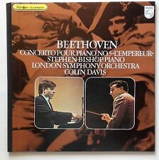 LP Beethoven - Piano No. 5 - Stephen Bishop Colin Davis London Frence Philips Nm