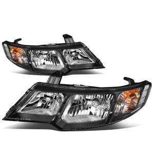 Fit 10-13 Kia Forte Pair Chrome Housing Clear Corner Driving Headlight/Lamps Set