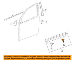 GM OEM Front Door-Side Molding Retainer 94530385
