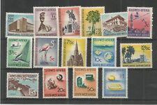 SOUTH WEST AFRICA 1961 DEFINITIVE SET OF 15 SG,171-185 M/MINT LOT 7589A