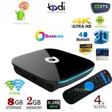 New QBOX 8GB 2GB 4K UHD WIFI KODI Android 6.0 Smart TV BOX Quad Core S905X