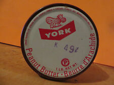 1960s YORK PEANUT BUTTER JAR CANADIAN VERSION FRENCH ENGLISH PEANUT BUTTER COW
