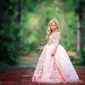 Flower Girl Dress Pageant Bridesmaid Wedding Communion Party Prom Princess 2019