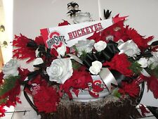 Osu Ohio State Colors Football Scarlet Gray Cemetery Grave Tombstone Decoration