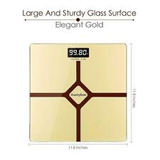 Bathroom Scale - Digital Scale with Step-On Function 400 pounds- Gold