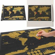 Big Deluxe Travel Edition Scrape Off World Map Poster Personalized Journal Log