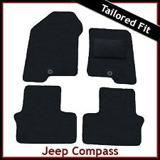 Jeep Compass Mk1 2006-2017 Tailored Fitted Carpet Car Floor Mats BLACK