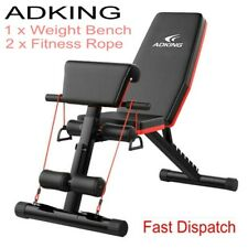 Adjustable Sit Up AB Incline Abs Bench Flat Fly Weight Press Gym Black US SPORT