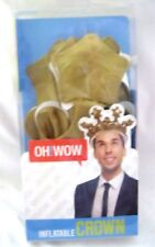 Inflatable Gold Crown by Oh! Wow! Oh! Wow! Inflatable Gold Crown! Brand New!