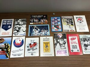 Lot of 1993-94 American Hockey League pocket schedule