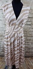 Ann Taylor Loft Multi-colored Animal Print Cap Sleeve Casual Dress, Size 14