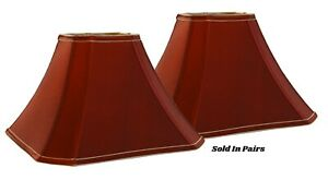 "Soft Back Red Irridescent Shades (6""x6"")x(15""x15"") x 11""- Price is per Pair"