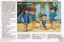 ▬► Page Poupée Michel et Françoise  Modes et Travaux 07/1980