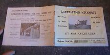 Ancien Catalogue Grue Dragueline Drague Excavatrice Carrière Arthur Anker Paris