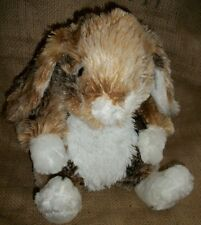 "Dan Dee Bunny Rabbit Brown White Marble Tie Dye Multi color Fur Plush 15"""