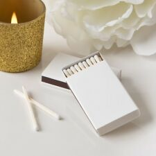100 White Boxed Matches Wedding Bridal Shower Party Gift Favors
