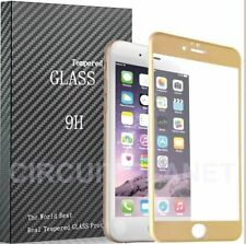 Tempered Glass Gold Mobile Phone Screen Protectors for Apple