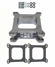 "HOLLEY EDELBROCK AFB 2"" ALUMINUM Carburetor Carb Spacer 2 Inch Open 4BBL A109"