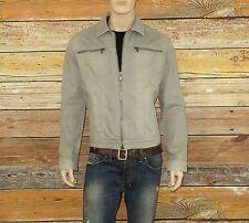 John Varvatos Jacket in Fossil Grey Size XL Double Zipper Cotton $399.00