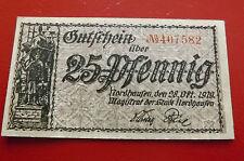 *Notgeld - Nordhausen *25 Pfennig 1919 * (17) (ORD.1)