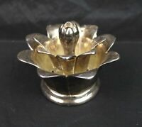 Vintage 1950s Wallace Figural Silver Plated Lotus Flower Frog