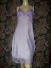 Vintage Aristocraft Purple Woven Taffeta Lacy Empire Slip Nighty Lingerie 34