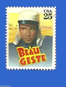"""GARY COOPER in """"BEAU GESTE""""  1939 Classic Films STAMPS X12 Indiviual MINT"""
