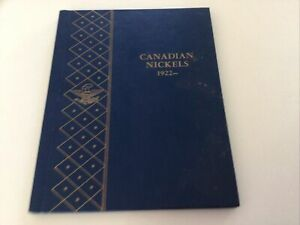 Canadian Nickels 1922-1964 Album With Coins Canada Five Cents