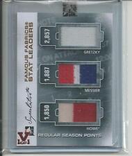 Superlative Vault on Vol. III Famou Fabrics Gold Jerseys Gretzky Messier Howe /1