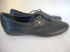 Easy Spirit Motion navy blue leather oxfords flats walking shoes Size 7.5 4 A
