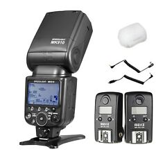 Meike MK-910 i-TTL HSS Flash Speedlight + MK-RC10N Flash Trigger for Nikon