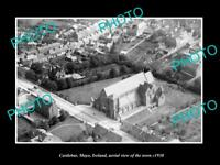 OLD LARGE HISTORIC PHOTO OF CASTLEBAR MAYO IRELAND, AERIAL VIEW OF TOWN c1930 1