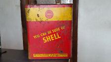 rare tipple shell motor oil tin sae 50  neptune golden fleece