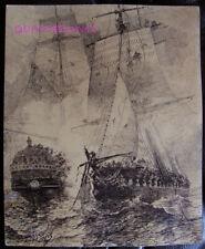 DESSIN ORIGINAL ALFRED PARIS - illustration livre Voyages de Louis Garneray #3