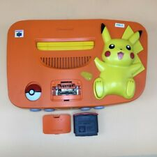 P9612 Nintendo 64 Pokemon Pikachu Orange & Yellow N64 console System * Express