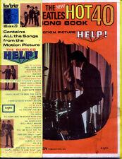 BEATLES 1965 New Hot 40 Song Book / Help! SHEET MUSIC SONGBOOK Charles Hansen
