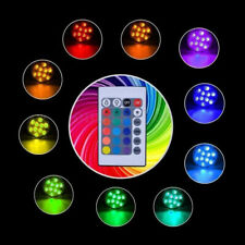 Waterproof Battery Pool Submersible Light Pool RGB LED Lamp Remote Control