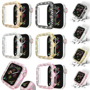 For Apple Watch 1 2 3 Face Case Cover 38/40/42/44/mm Bling Crystal Rhinestone