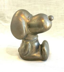 Vintage Silver Plate on Metal Snoopy Peanuts Coin Bank 1966 Japan,Leonard