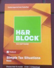 H&R Block Tax Software Basic 2018