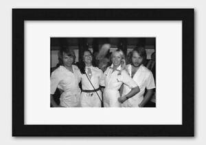 ABBA - Pop group November 1976 Print Black Frame A3 (29.7x42cm) White