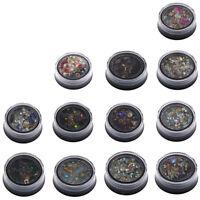 Nail Art Decoration Mix Color Rhinestone Studs Diamond Gem Bead Glitter Set