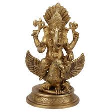 "Ganesha Statue Brass Elephant God Ganpati Ganesh Idol Figurine Decor Gift 10"""