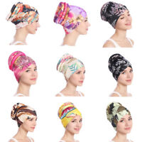 Women Muslim Stretch Turban Hats Chemo Cap Hair Loss Head Scarf Wrap Cover Hijab