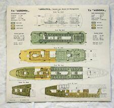 ADRIATICA LINE AUSONIA Color Coded Deck Plan 1963