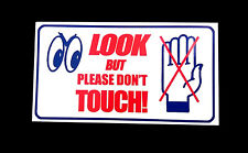 Look But Please Don't Touch Sticker - Damage Breakage Broken Hands Off Sold